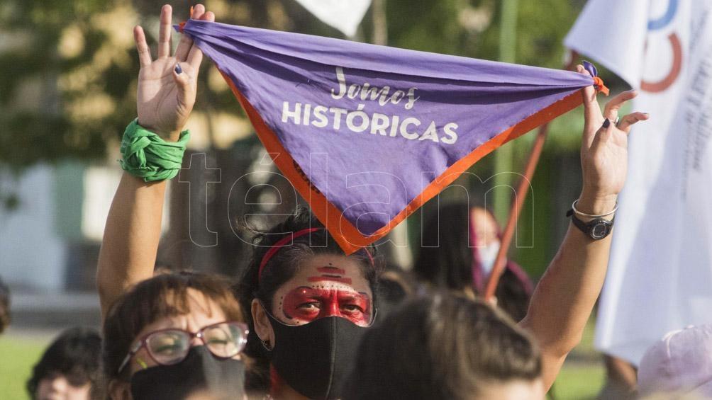 Río Negro fue uno de los puntos donde se movilizaron los grupos feministas y disidentes.