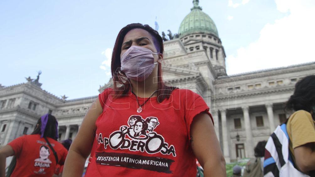 La marcha fue en el marco del Día Internacional de la Mujer Trabajadora.