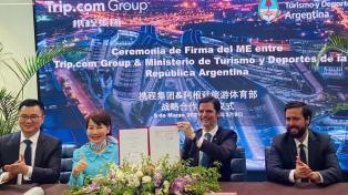 Argentina firmó un Memorando de Entendimiento con la plataforma de turismo más importante de China