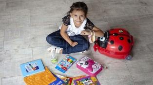 Los preparativos de Milagros para iniciar la primaria en su Río Gallegos natal