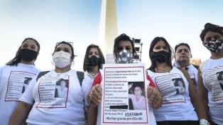 Marcharon al Obelisco por un hombre desaparecido desde enero en San Martín