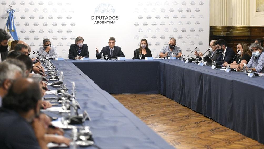 La intención de la bancada del Frente de Todos, que conduce Máximo Kirchner, es la de sancionar esta iniciativa el martes o jueves próximos.