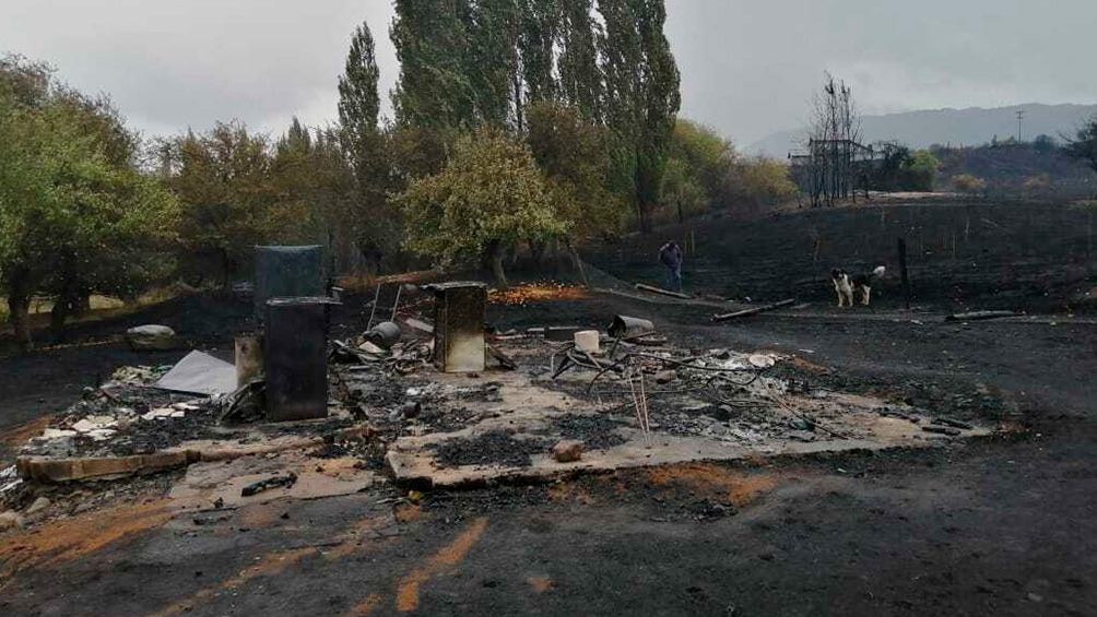 """""""El fuego llegó muy rápido, no nos dio tiempo a nada"""", contó un vecino de Maruca."""