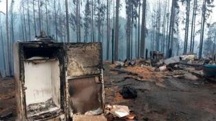 La situación climática ayuda a que el fuego no se propague en la Comarca Andina