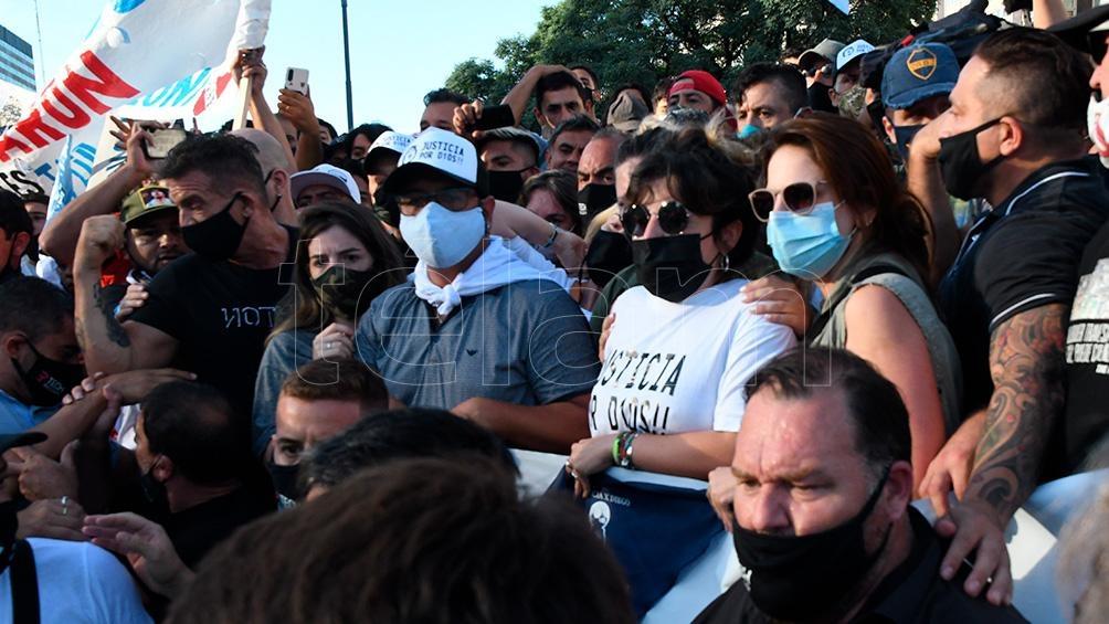 Marcha por pedido de justicia por la muerte de Diego Maradona.