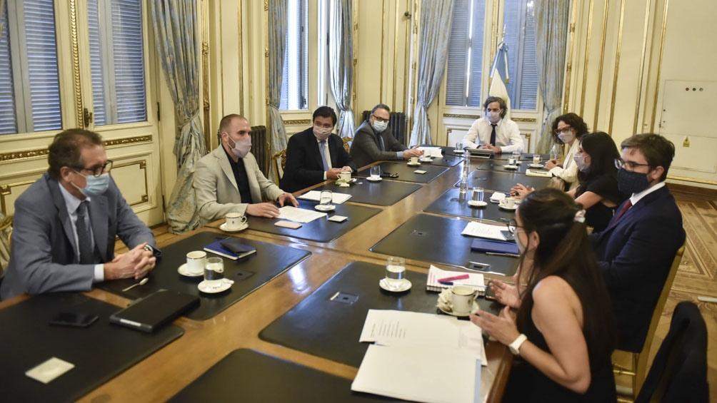 Moroni analizó junto al gabinete económico la evolución del Programa de Recuperación Productiva II.