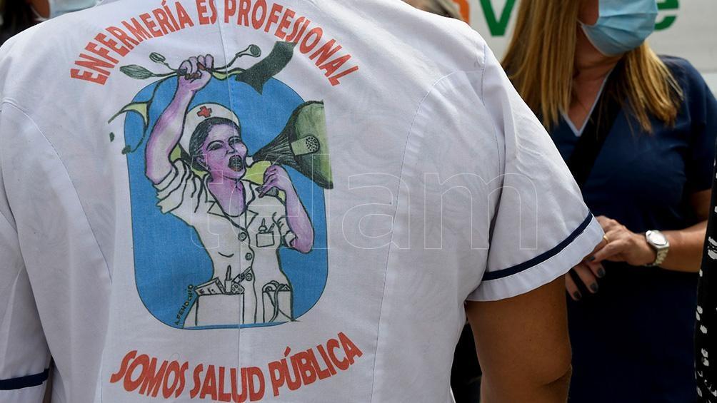 Una marcha en defensa de la salud pública.
