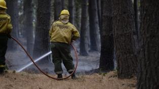 Brigadistas continúan combatiendo incendios forestales en Río Negro y Chubut