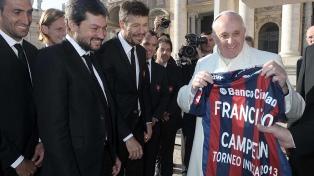De ayer a hoy, la pasión del papa Francisco por San Lorenzo