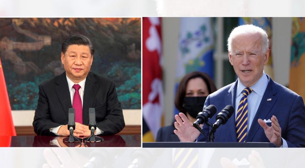 El presidente chino, Xi Jinping y su par estadounidense, Joe Biden