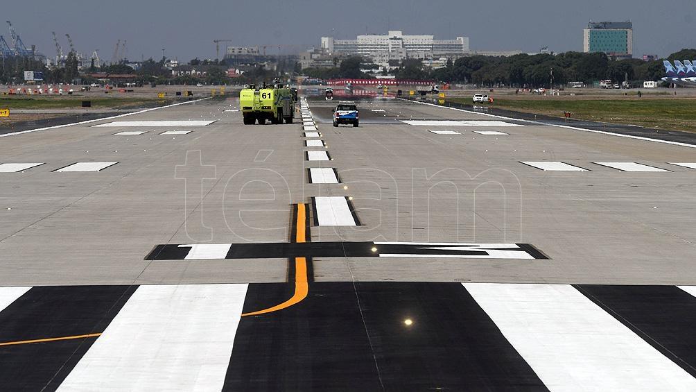 """El proyecto de reforma consistió en """"ampliar la pista y mejorar las condiciones de seguridad de capacidad operativa""""."""