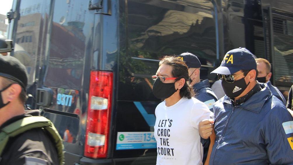 Estrada quedó nuevamente detenido en un control vehicular debido a las restricciones de circulación por el ASPO.