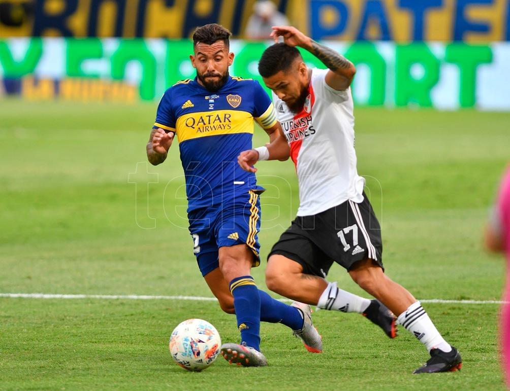 Carlos Tevez y Paulo Díaz, dos seguros protagonistas del Superclásico.