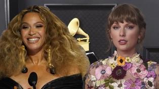"""Beyoncé y Taylor Swift hicieron historia en unos Grammys con """"cara de mujer"""""""