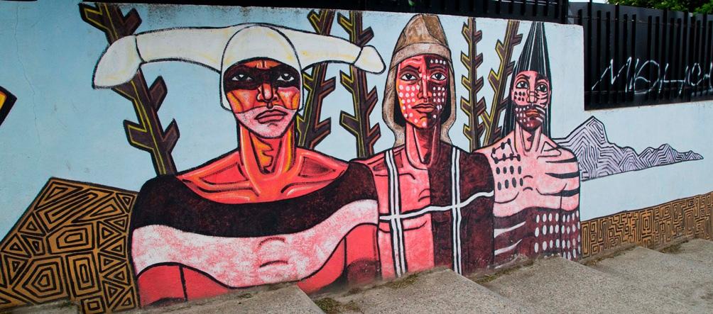 """En Ushuaia ya existen """"barrios de murales"""", con una gran cantidad de muros impactados."""