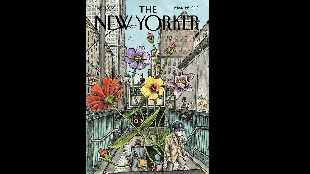 """Springin back"", la tapa de marzo de The New Yorker"