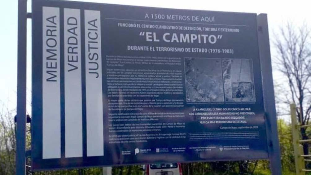 """Floreal fue trasladado junto a su madre a Campo de Mayo, donde funcionaba el centro clandestino """"El Campito""""."""