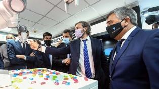 Cafiero y Massa encabezaron la apertura oficial de la muestra 5G en Enacom