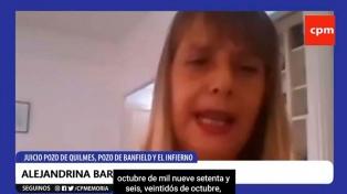 """""""La lucha debe continuar con el juzgamiento de los civiles"""", reclamó Alejandrina Barry"""