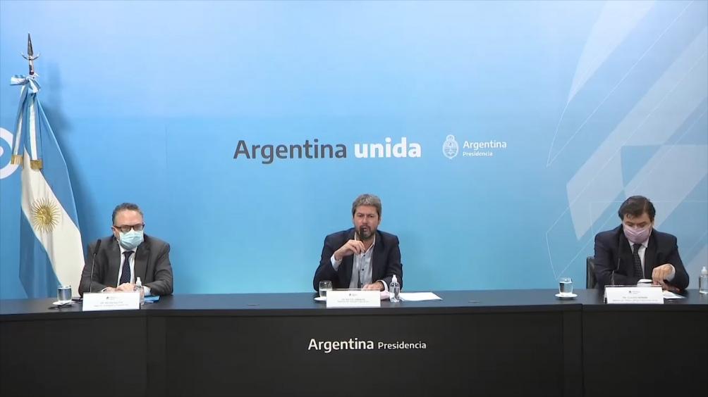 Los ministros de Trabajo, Claudio Moroni; de Desarrollo Productivo, Matías Kulfas y de Turismo, Matías Lammens, presentaron este martes la ampliación de la asistencia estatal a privados.