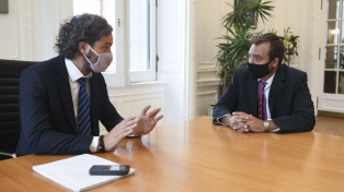 Cafiero recibió a Soria para delinear la gestión en el Ministerio de Justicia