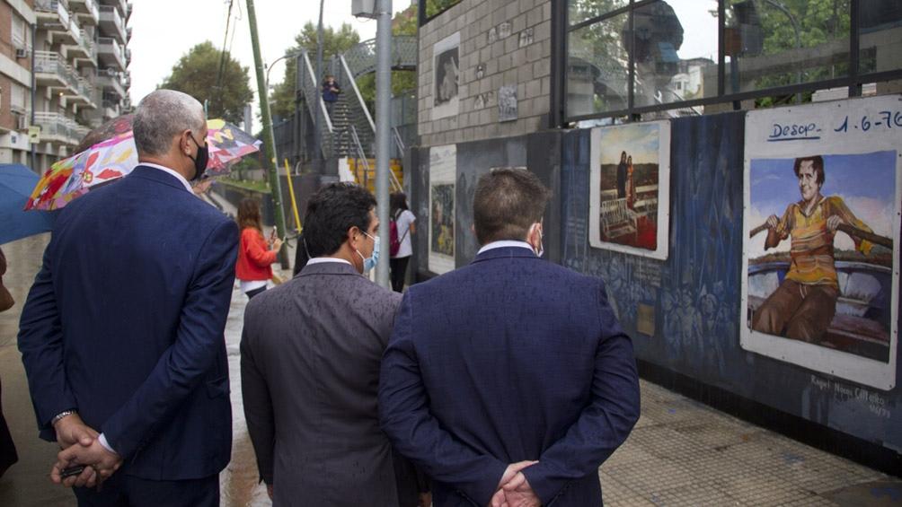 La estación fue reinaugurada como parte de las conmemoraciones por el 45° aniversario del golpe de 1976.