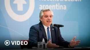 """Fernández: """"Mi urgencia es con quienes no tienen casa; no acordar con los acreedores"""""""