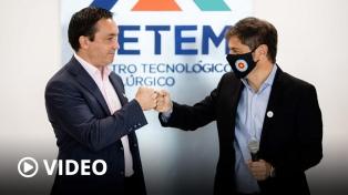 """Kicillof: """"Las pymes son el mejor ejemplo de cómo debe funcionar la industria argentina"""""""