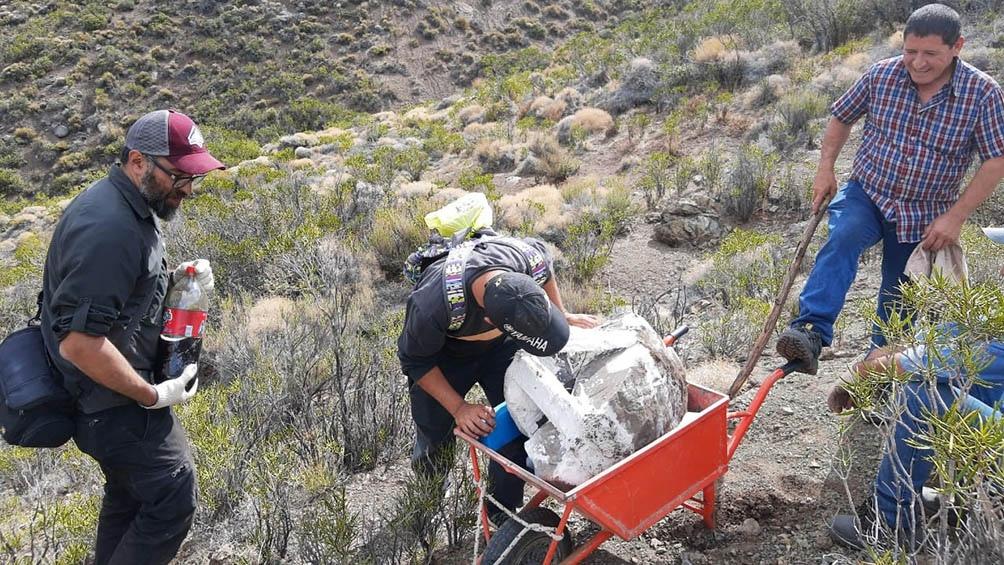 Los restos fueron hallados en cercanías de la localidad neuquina de Taquimilán.