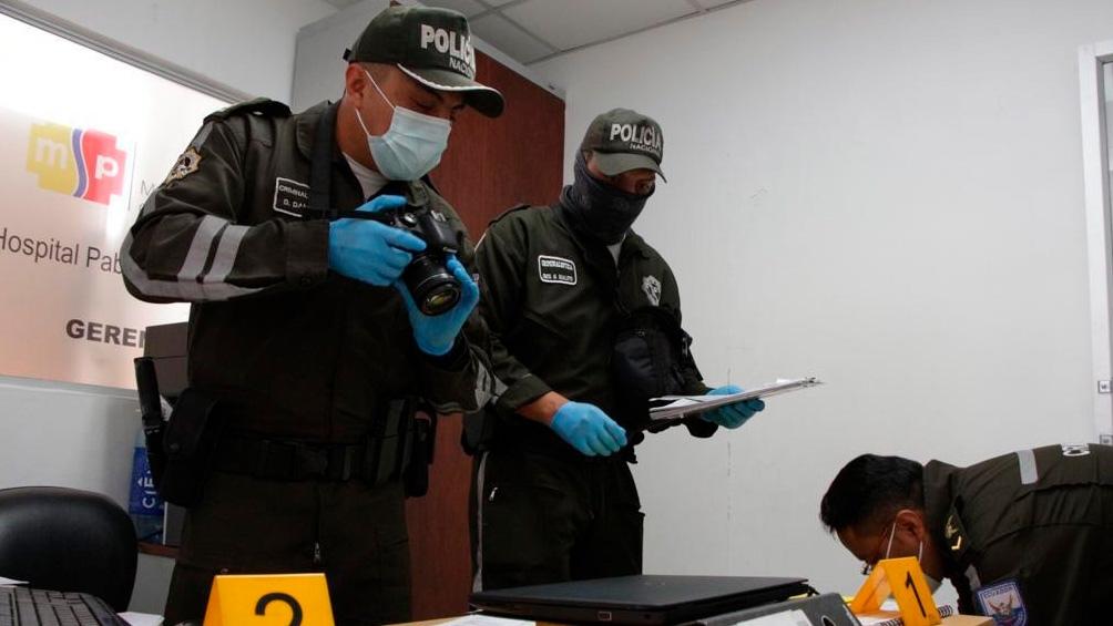 Allanamiento en un hospital de Quito