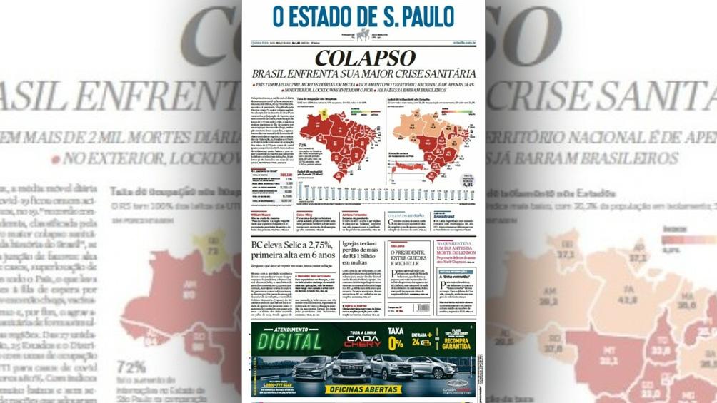 Brasil ya alcanzó un promedio diario semanal de muertes superior a las 2.000