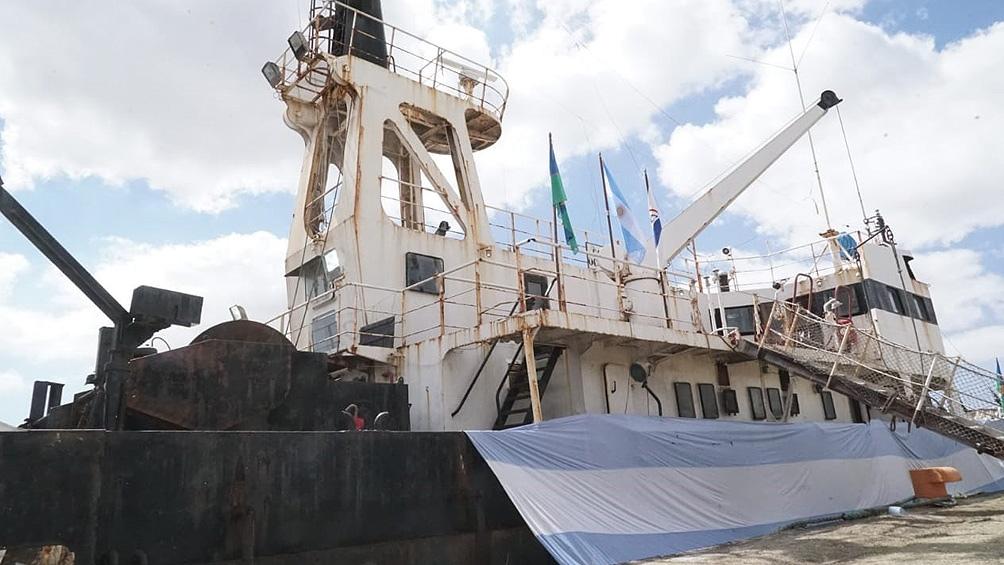 La reparación del Oca Balda se inscribe en la implementación de la Ley de Áreas Marinas Protegidas Nº 27.037