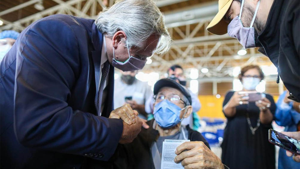 El Presidente estuvo acompañado por el gobernador de Catamarca, Raúl Jalil.