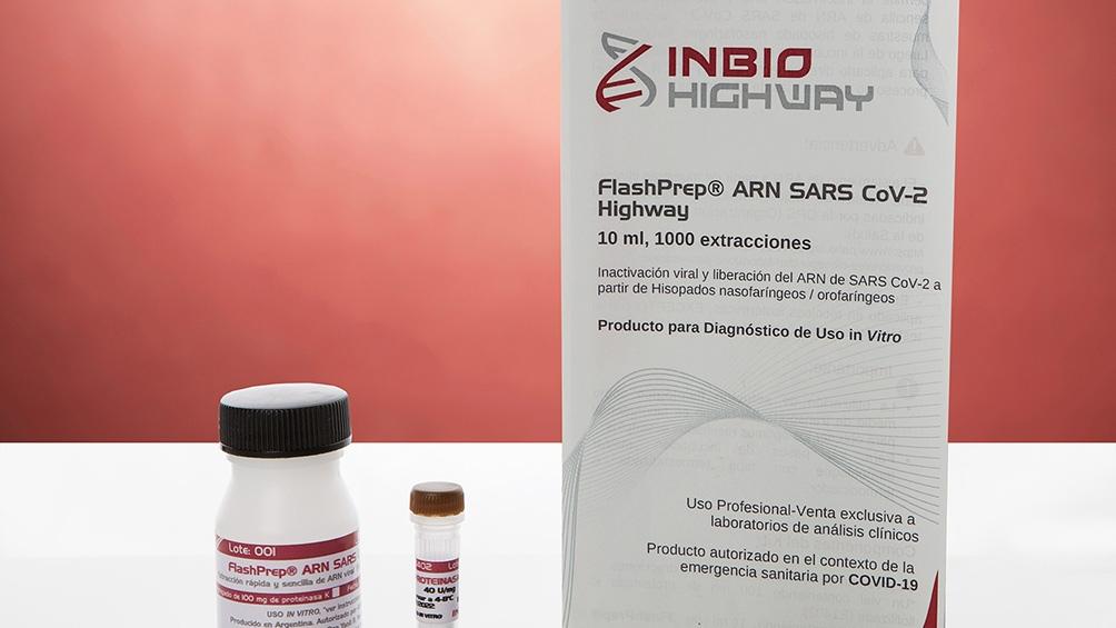 El kit lo fabrica y comercializa la empresa argentina Inbio Highway y ya se utiliza en laboratorios de diagnóstico en centros públicos y privados de todo el país