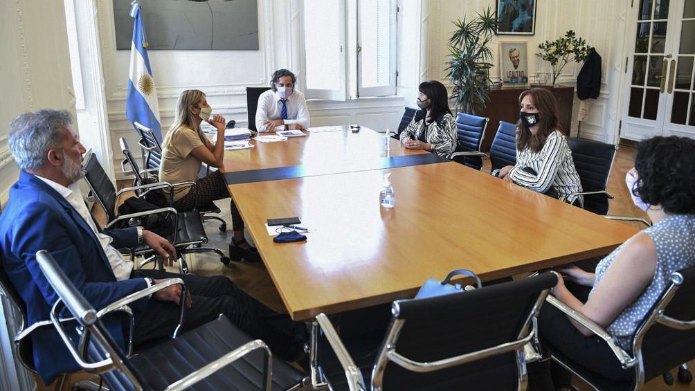 El encuentro se realizó en el despacho de Cafiero en Casa Rosada.