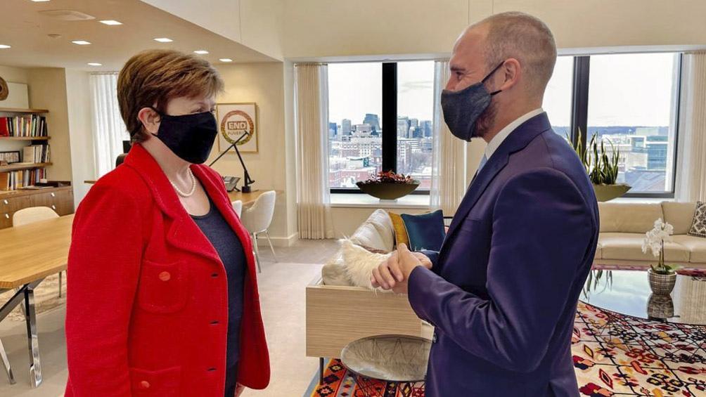 La agenda de Guzmán en Estados Unidos incluyó reuniones con la directora del FMI, Kristalina Georgieva.