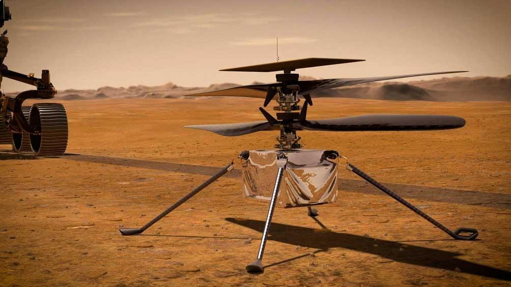 Estiman que el  domingo el Ingenuity se elevará para captar las primeras imágenes del planeta rojo.