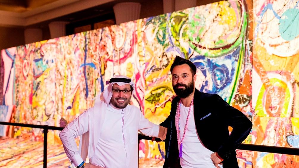 La obra mide 1.980 metros cuadrados y fue subastada en Dubai con fines benéficos.
