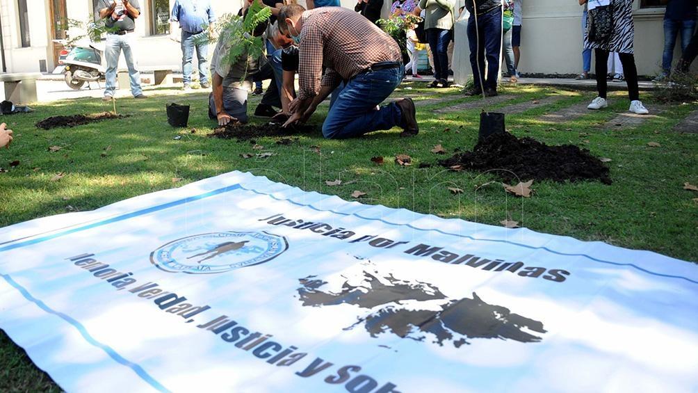 En La Plata Ex combatientes de Malvinas plantaron árboles por la memoria