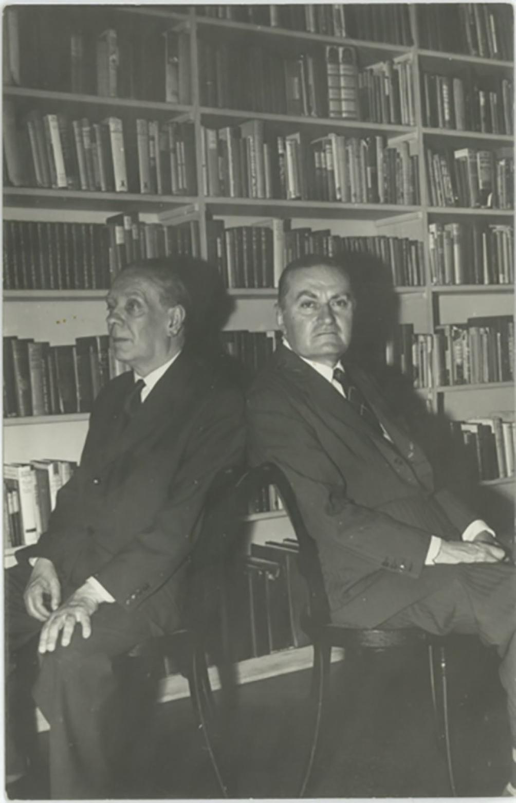 Peyrou fue descendiente de una estirpe similar a la de Borges, uno de sus mejores amigos.