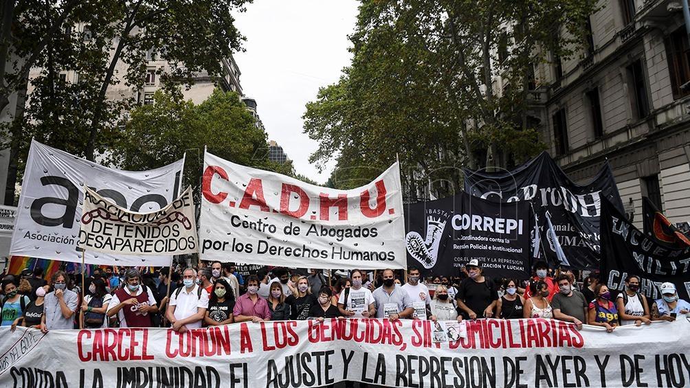 Los organizadores también llamaron a cumplir con las leyes reparatorias de las víctimas del terrorismo de Estado