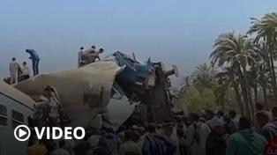 Egipto: al menos 32 personas murieron y 66 resultaron heridas al chocar dos trenes