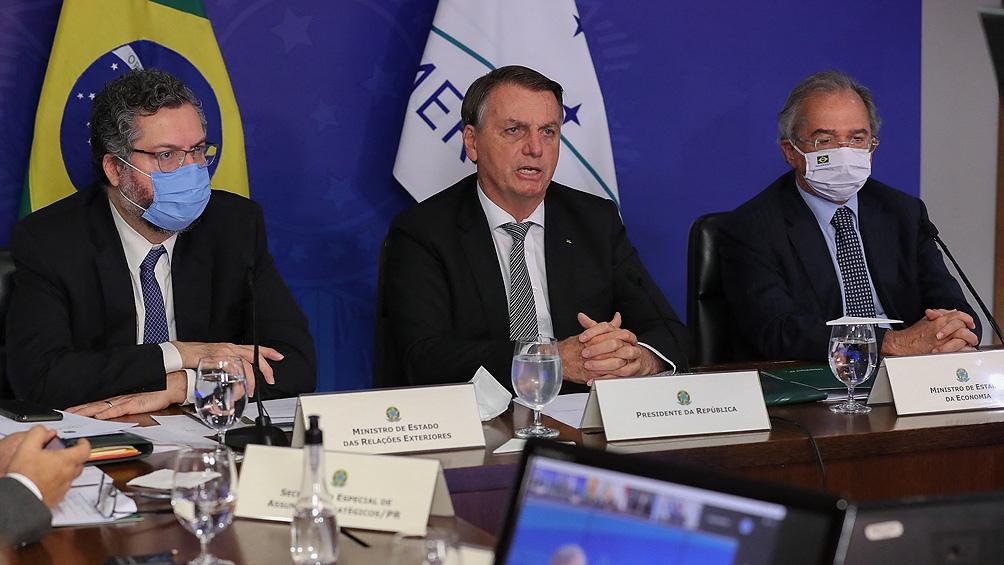 Bolsonaro dio un discurso por videoconferencia