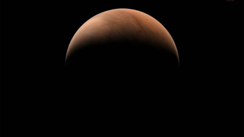 La misión china Tianwen-1 tomó imágenes laterales de Marte