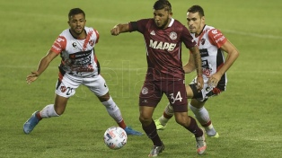 Lanús goleó a Patronato, en un festival de goles