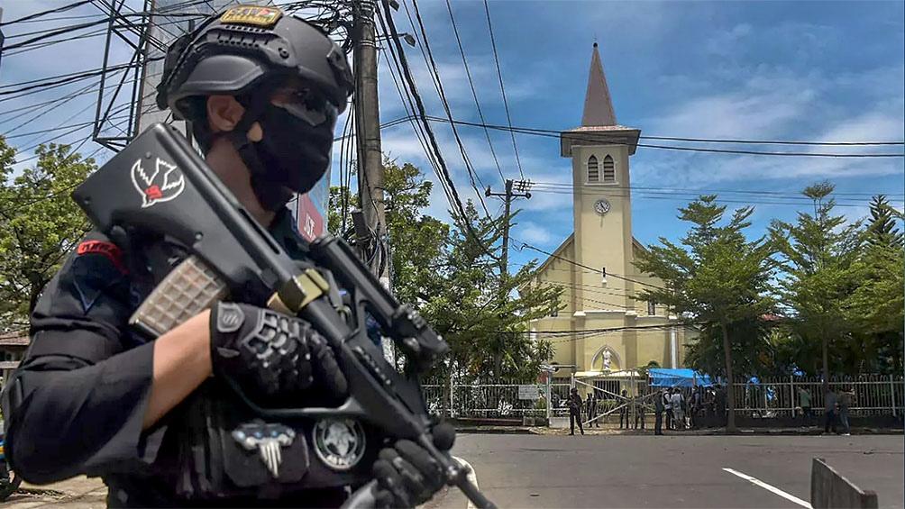 La explosión se produjo poco después de que acabara una misa en la catedral Sagrado Corazón de Jesús, sede de la arquidiócesis de Makassar