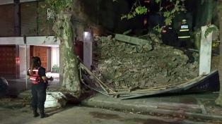 Se desplomó el segundo piso de una obra en demolición en Palermo