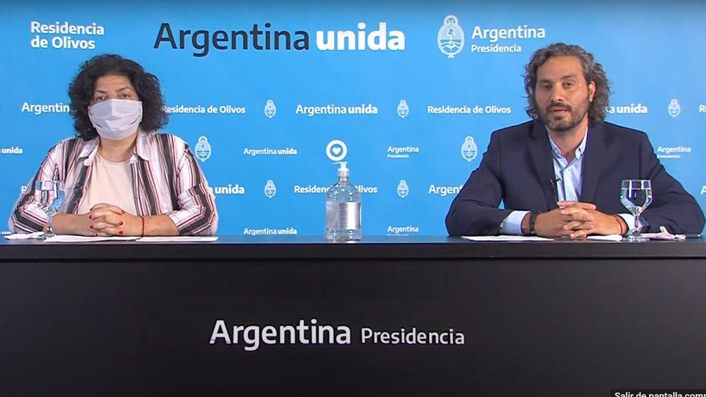 Carla Vizzotti y Santiago Cafiero realizaron los anuncios