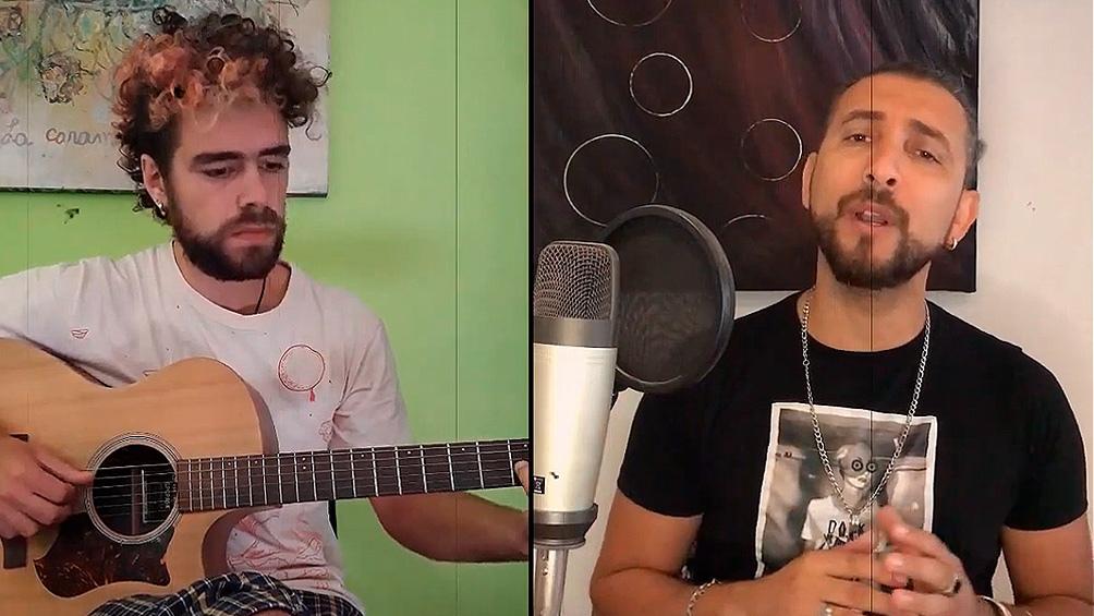 Sergio Minne y Bruno Fitte le ponen su voz a la canción.