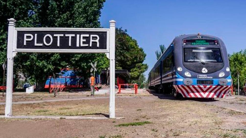 Volvió el Tren del Alto Valle, de Cipoletti (Río Negro) a Plottier (Neuquén).